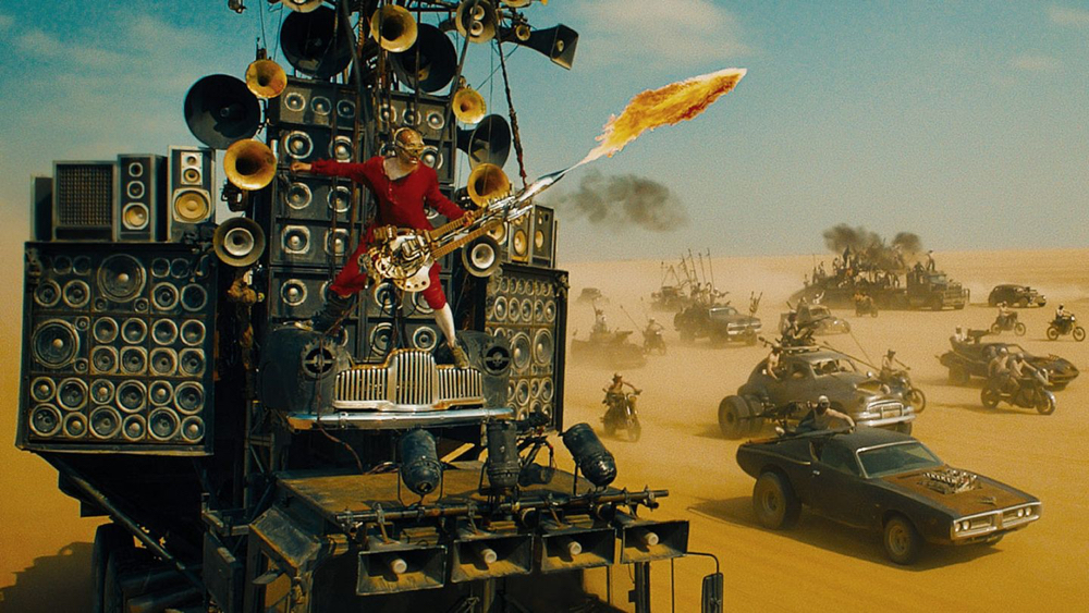 chitarrista heavy metal di mad max fury road
