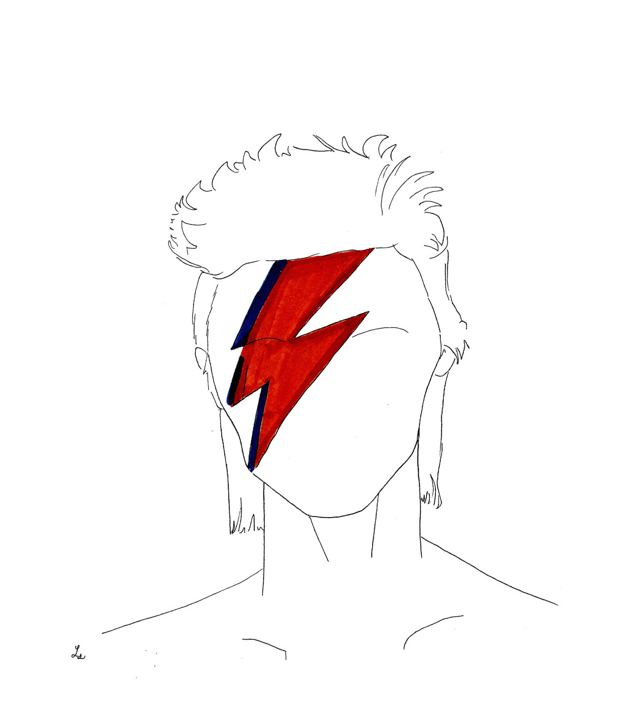 david bowie illustrazione