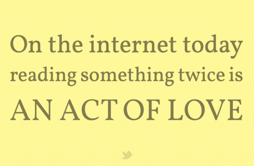 Rileggere significa amare qualcosa su internet